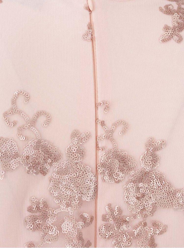 Rochie roz AX Paris din tulle cu paiete
