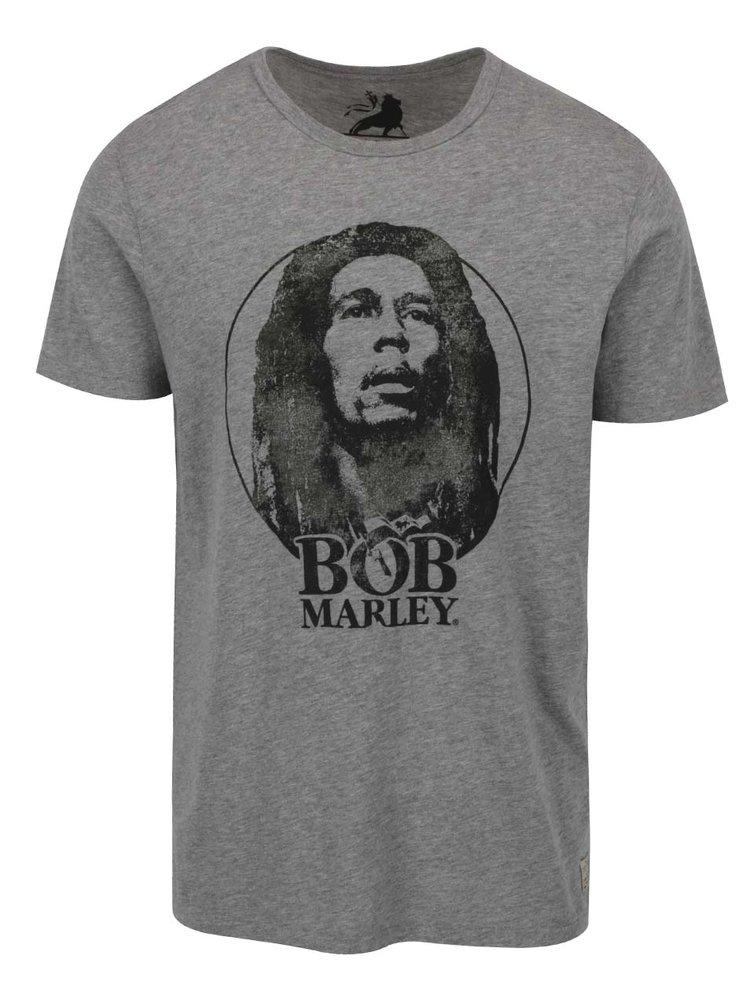Šedé triko s potiskem Jack & Jones Bob Marley