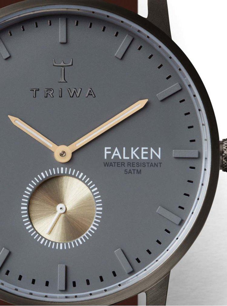 Ceas unisex maro&argintiu TRIWA Walter Falken