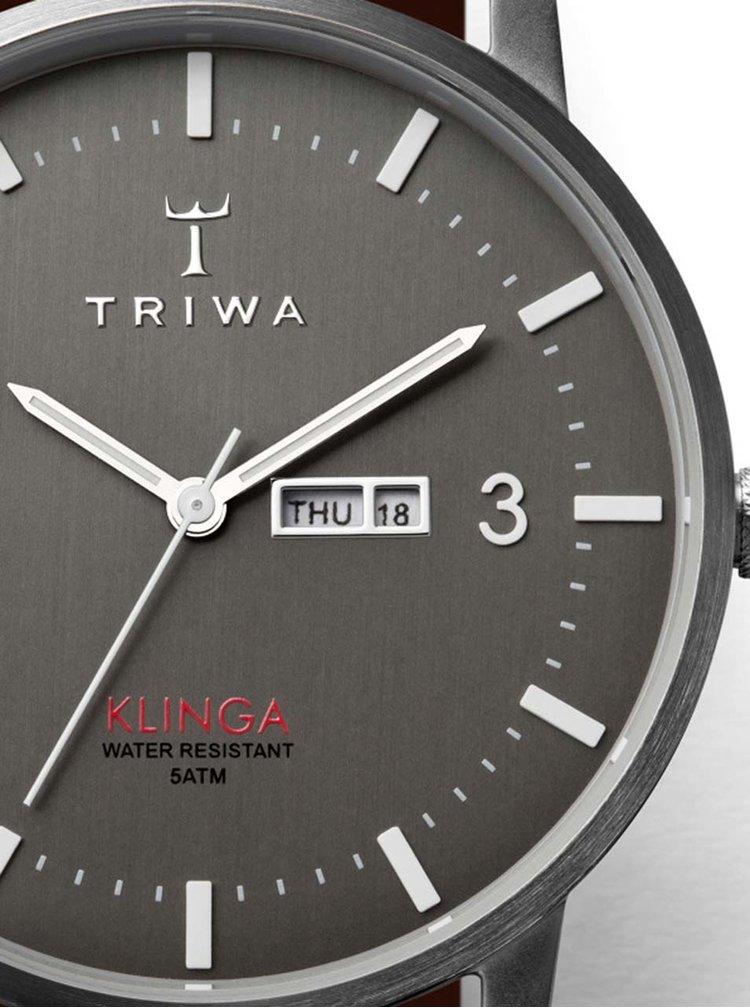 Ceas unisex argintiu&maro TRIWA Dusk Klinga