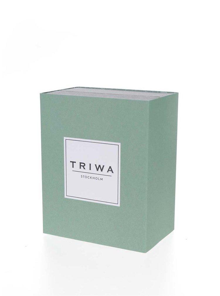 Ceas unisex argintiu&negru TRIWA Dawn Klinga