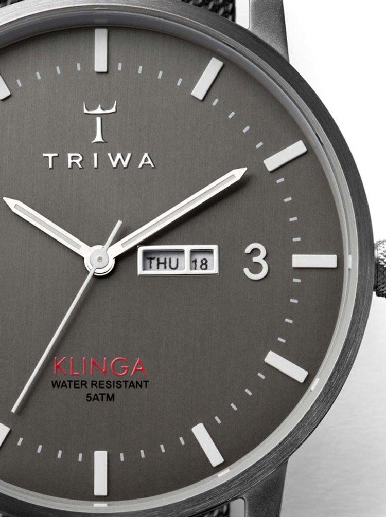 Ceas unisex argintiu TRIWA Dusk Klinga