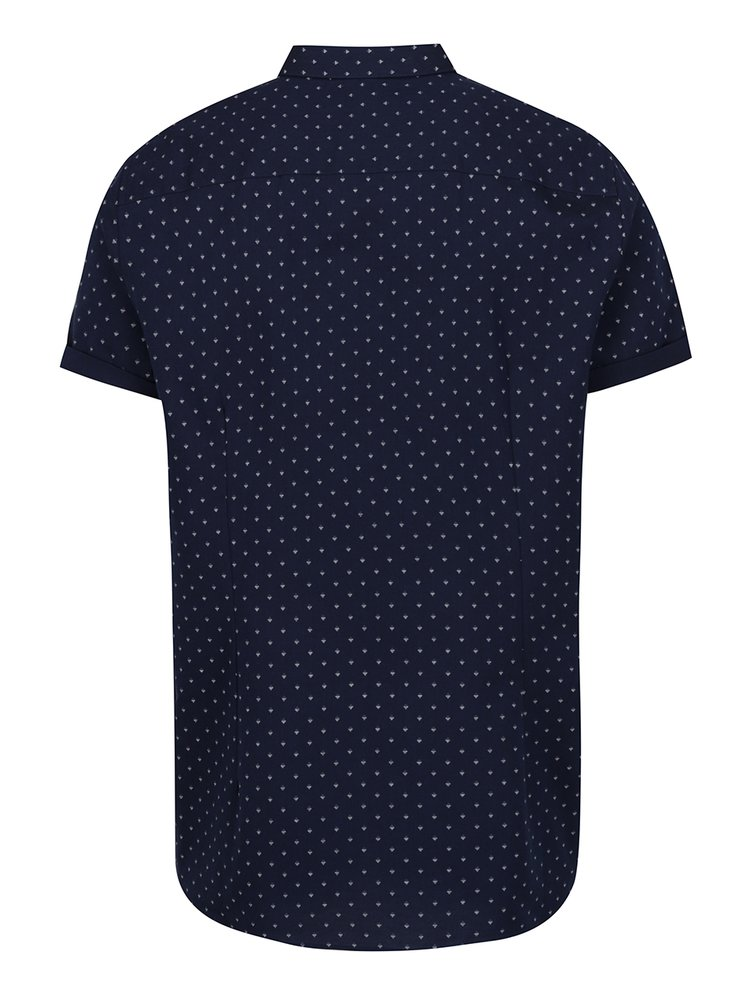 Tmavě modrá vzorovaná košile Burton Menswear London
