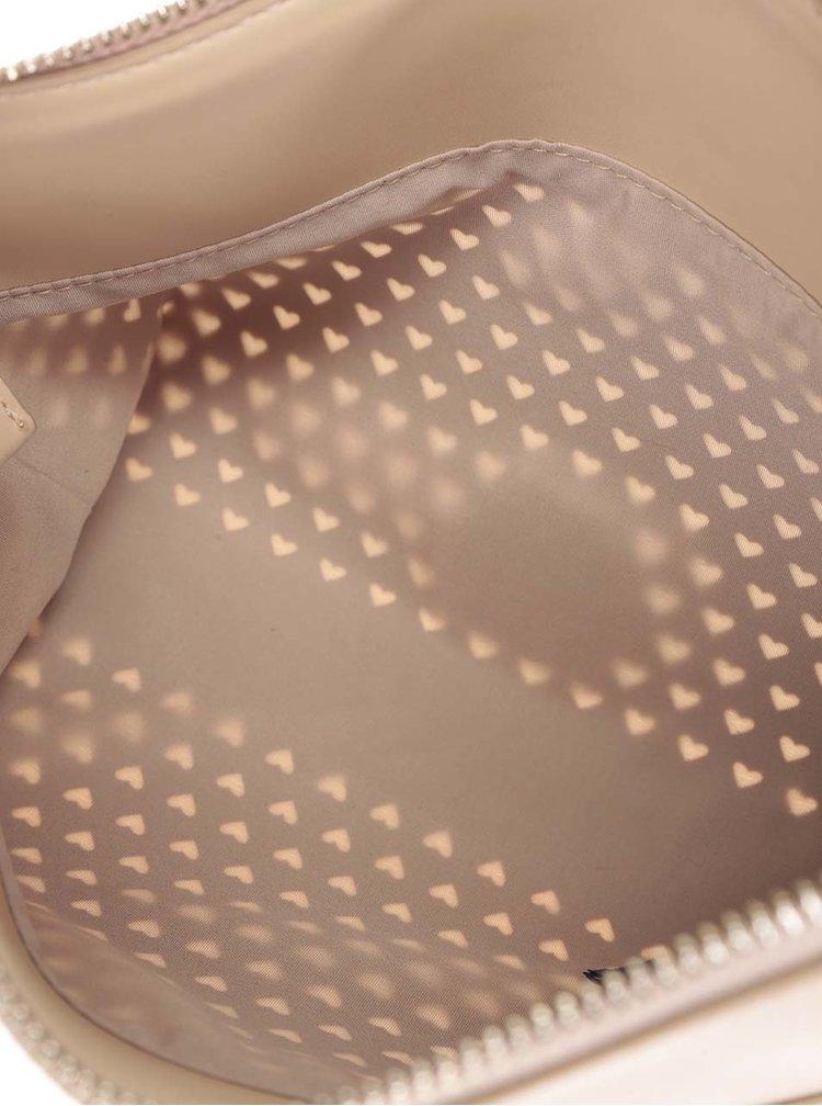 Béžová kožená perforovaná crossbody kabelka/psaníčko Tommy Hilfiger