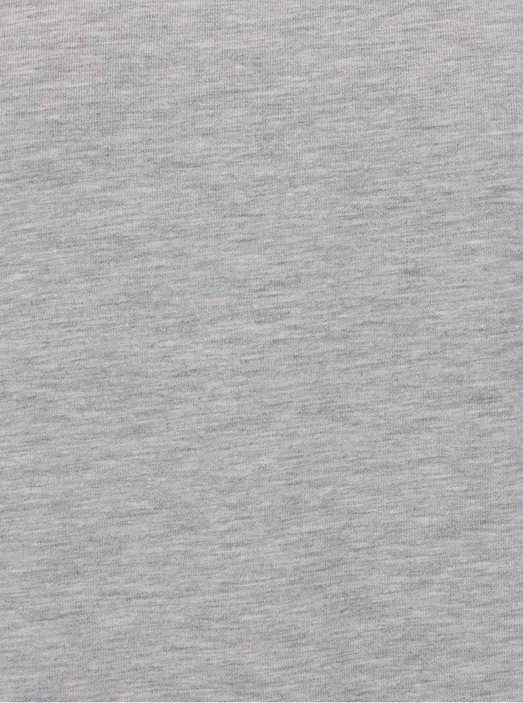 Šedé žíhané basic tričko ONLY & SONS Basic