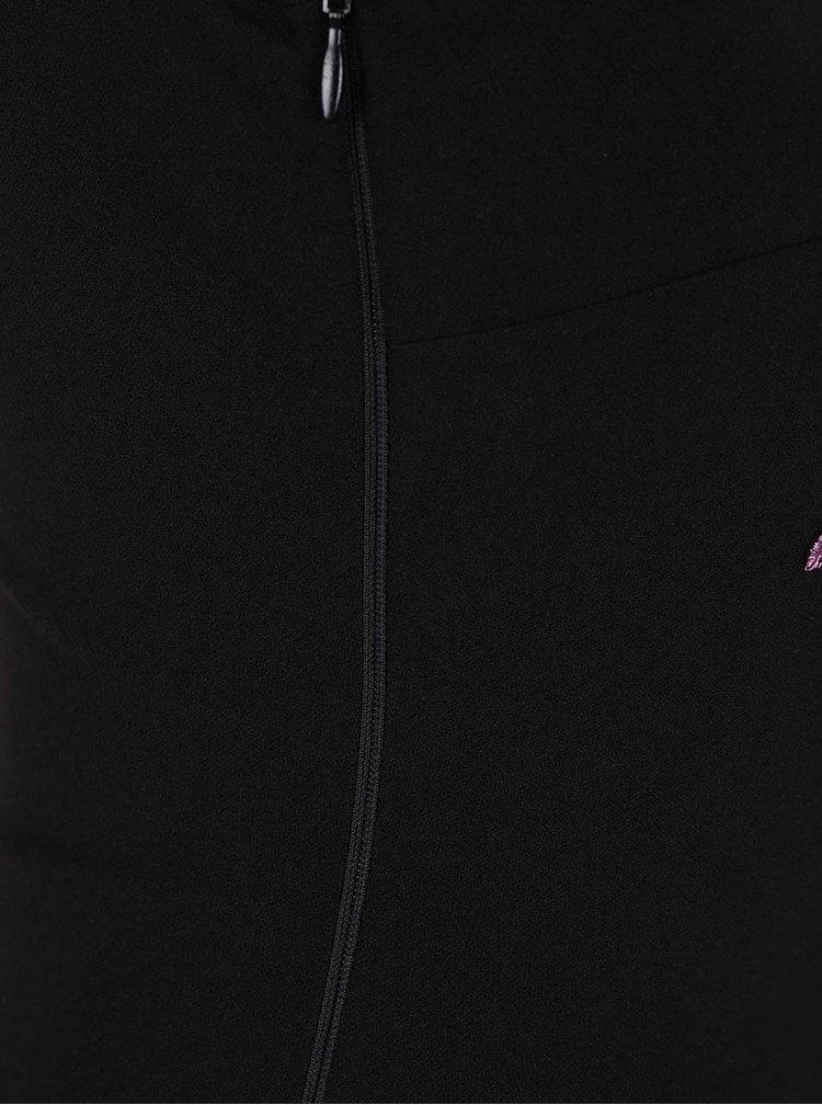 Černé asymetrické maxišaty s nášivkami  AX Paris
