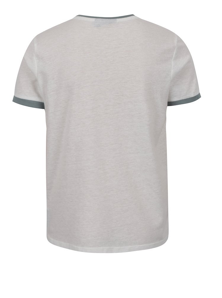 Bílé klučičí triko s potiskem a příměsí lnu LIMITED by name it Sylvest