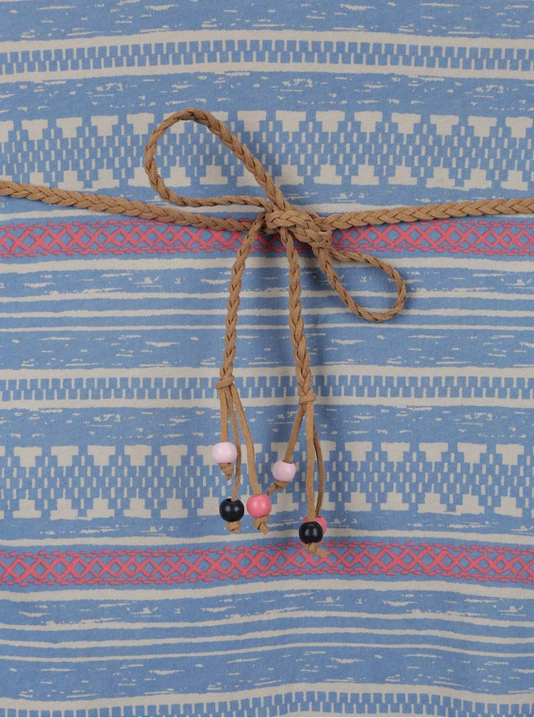 Rochie albastră Ragwear Tag Embro cu model aztec