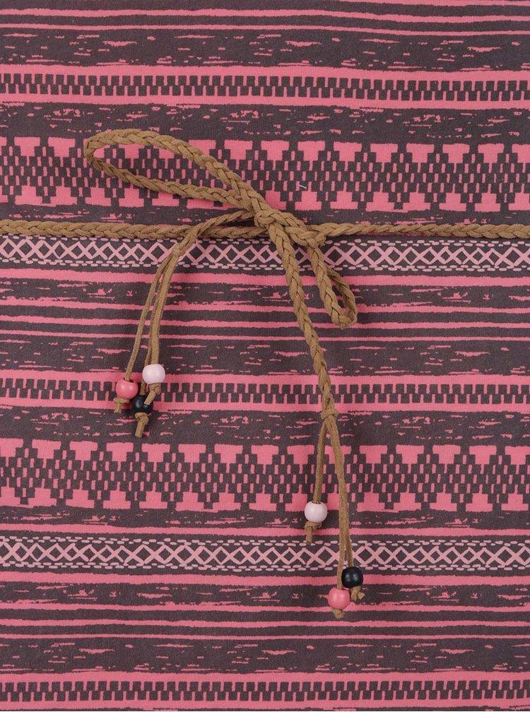 Rochie roz Ragwear Tag Embro cu model aztec