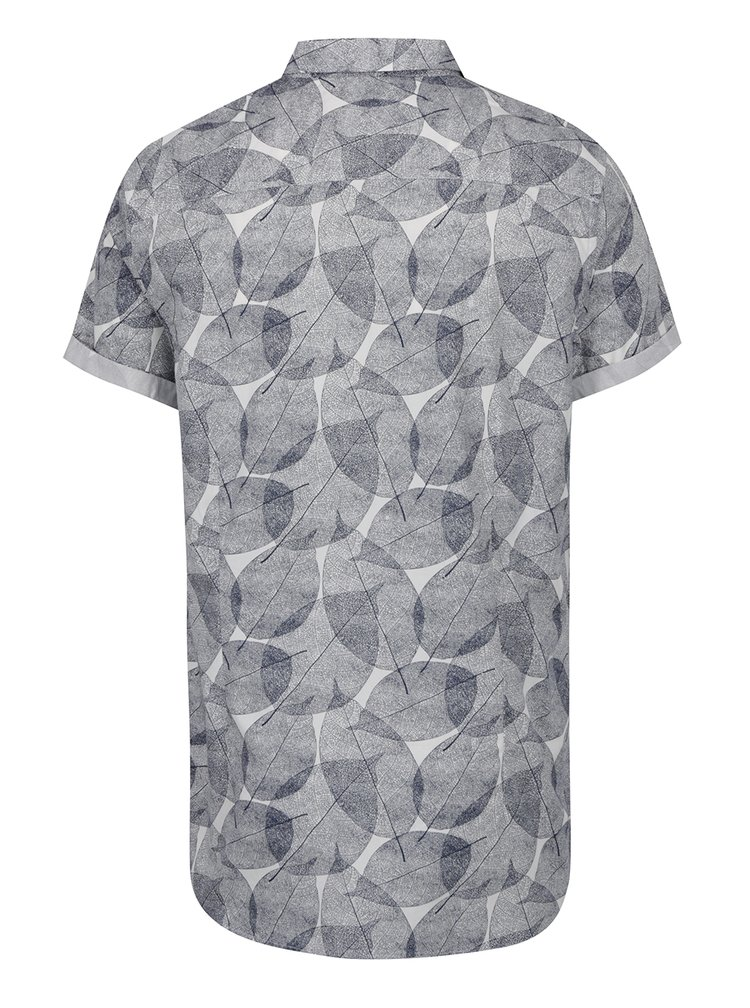 Camasa albastra Burton Menswear London cu mineci scurte si imprimeu