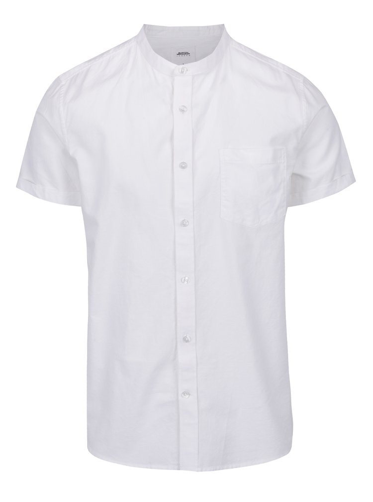 Bílá košile s náprsní kapsou Burton Menswear London