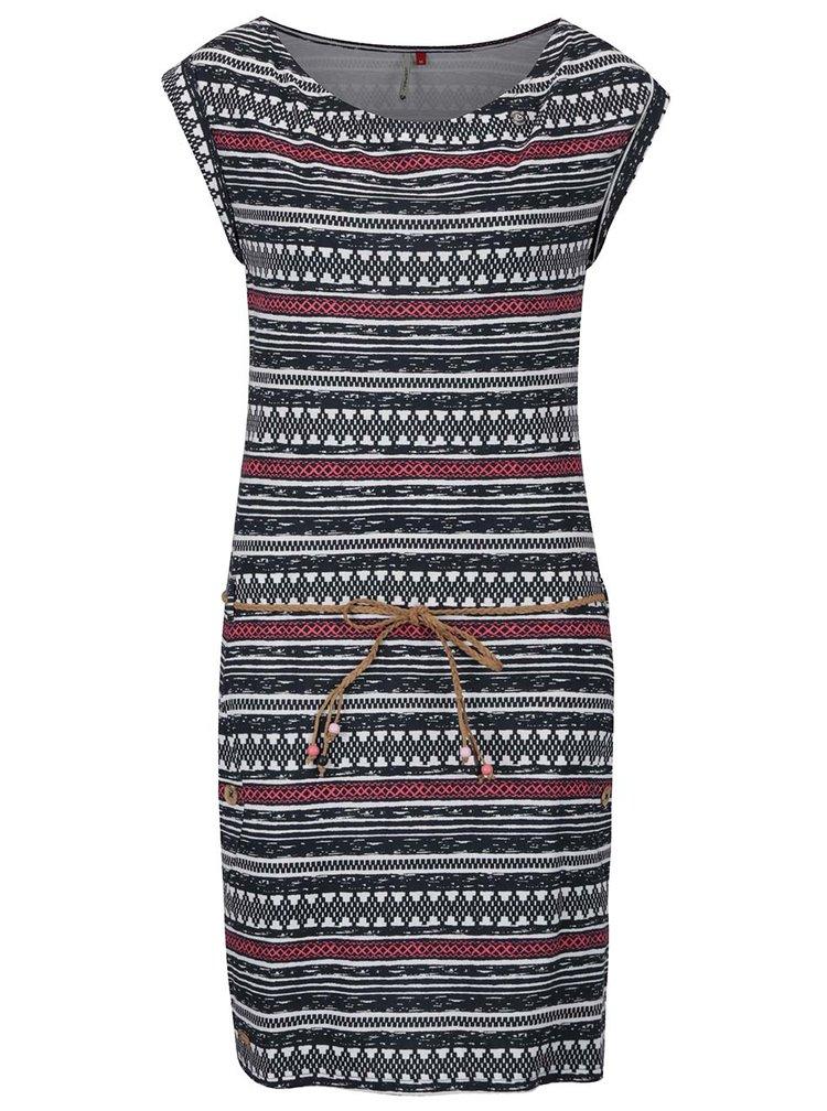Krémovo-černé pruhované šaty Ragwear Tag Embro