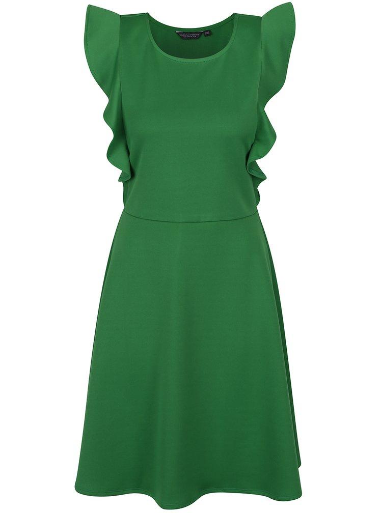Rochie verde cu volane Dorothy Perkins Tall