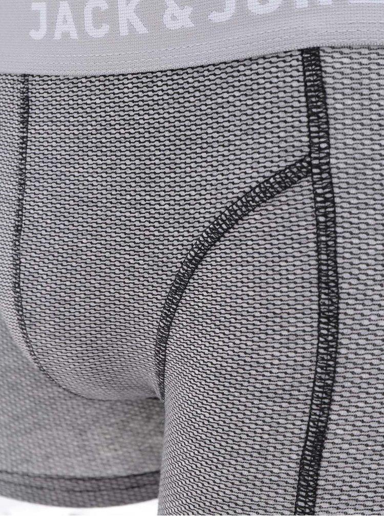 Šedé vzorované boxerky Jack & Jones Tile