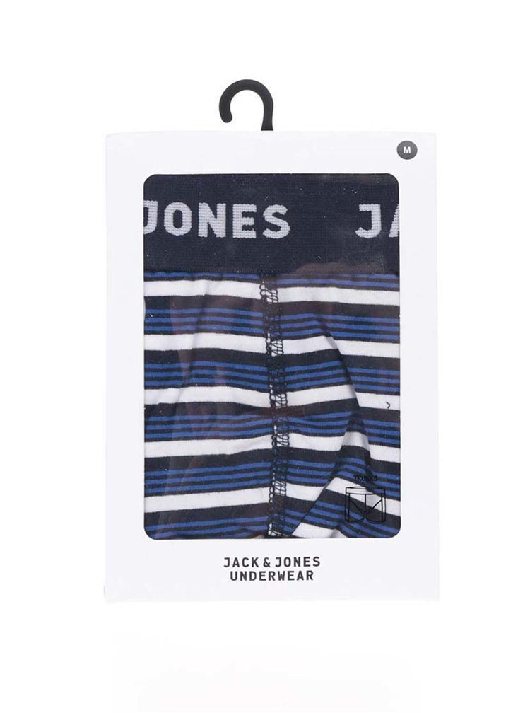 Boxeri alb & bleumarin Jack & Jones Calya