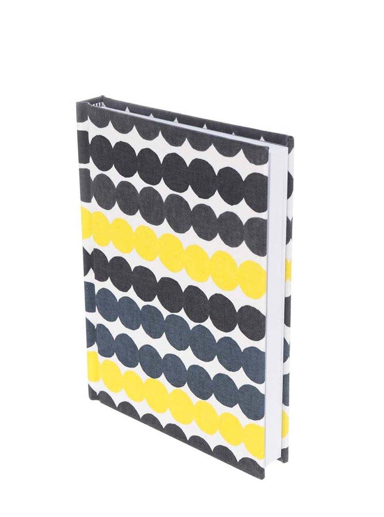 Žluto-černý zápisník s puntíky Chronicle Marimekko