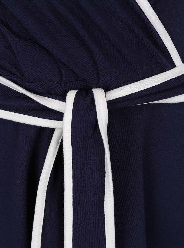 Rochie albastru inchis Dorothy Perkins cu croi parte peste parte