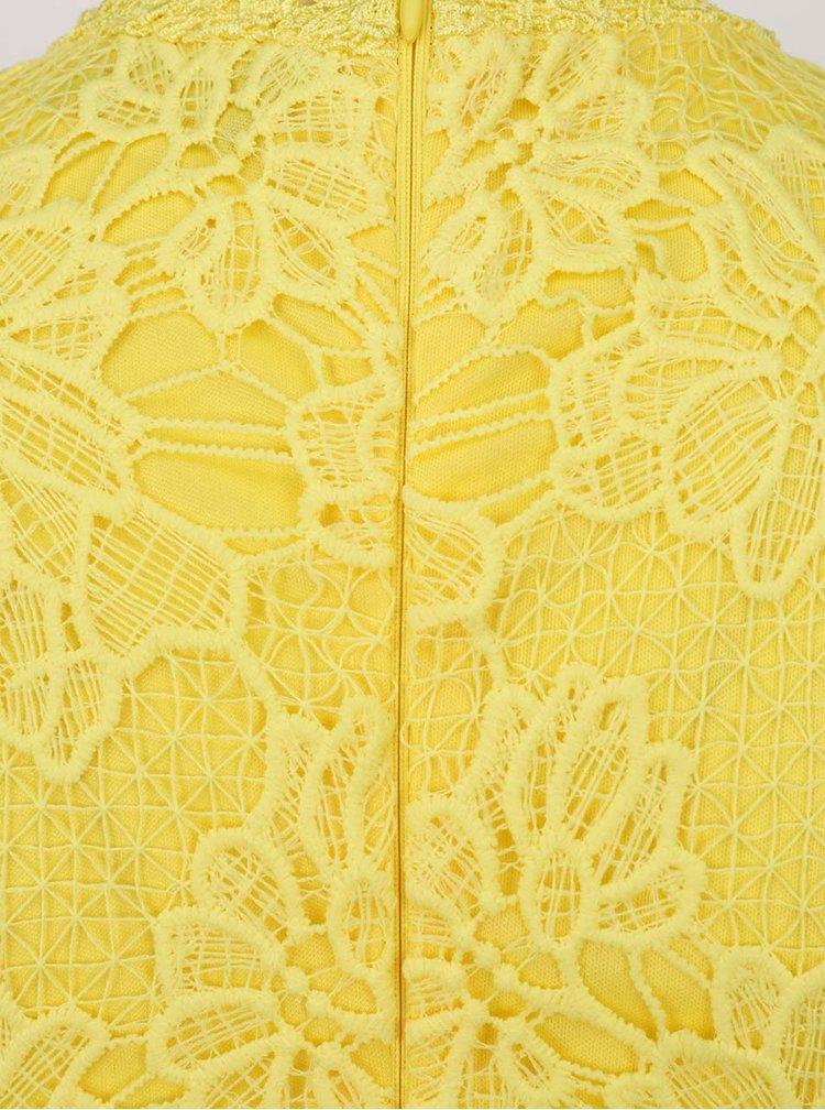 Rochie galbenă AX Paris din dantelă spartă