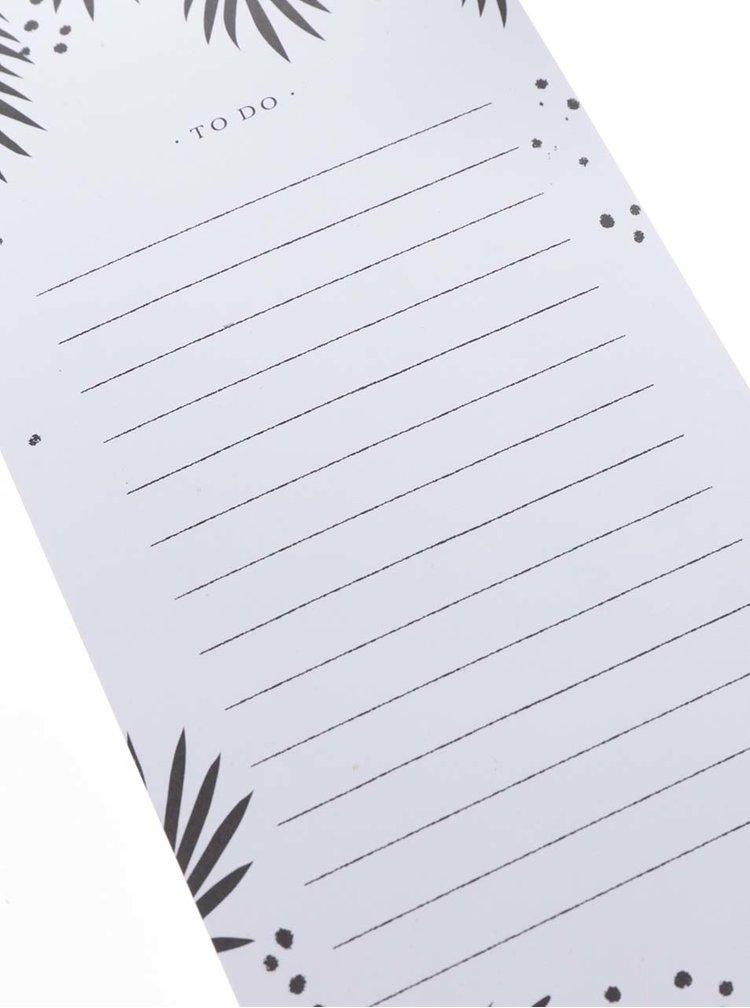 Černo-bílý poznámkový blok s listy na odtržení Galison
