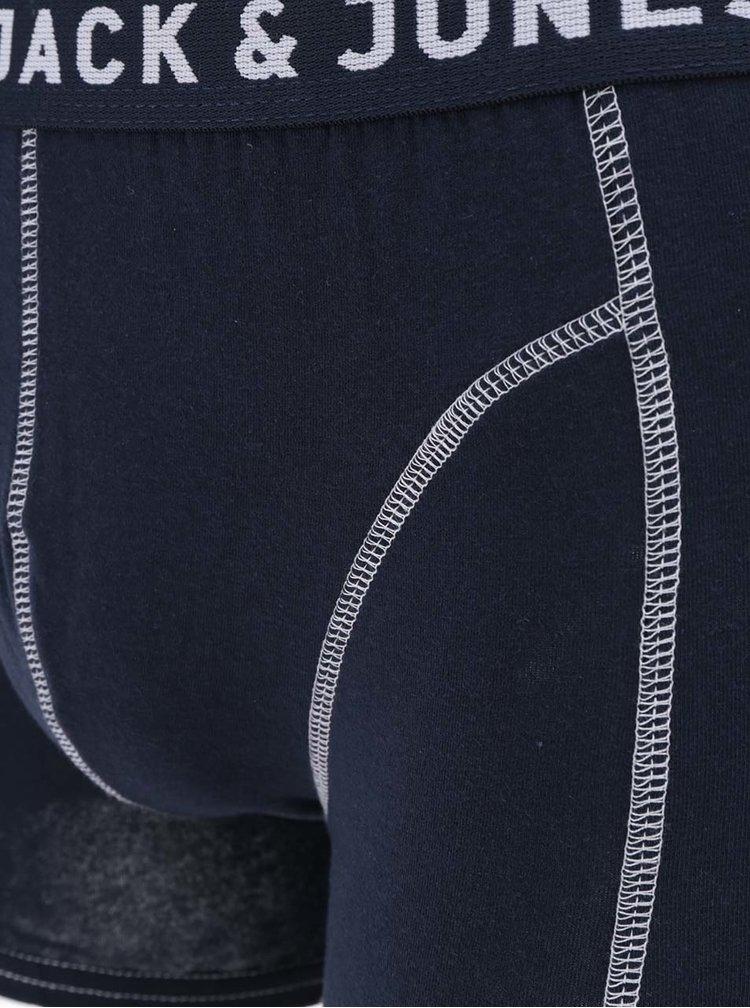 Tmavě modré boxerky s detaily Jack & Jones Simple