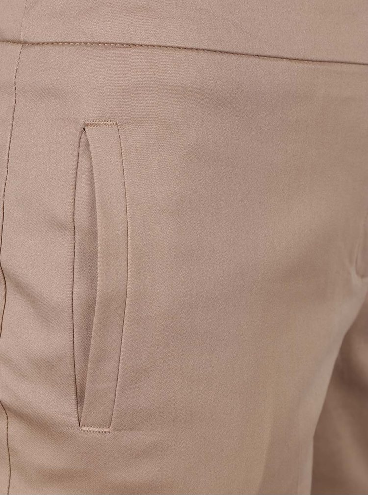 Béžové zkrácené kalhoty Dorothy Perkins