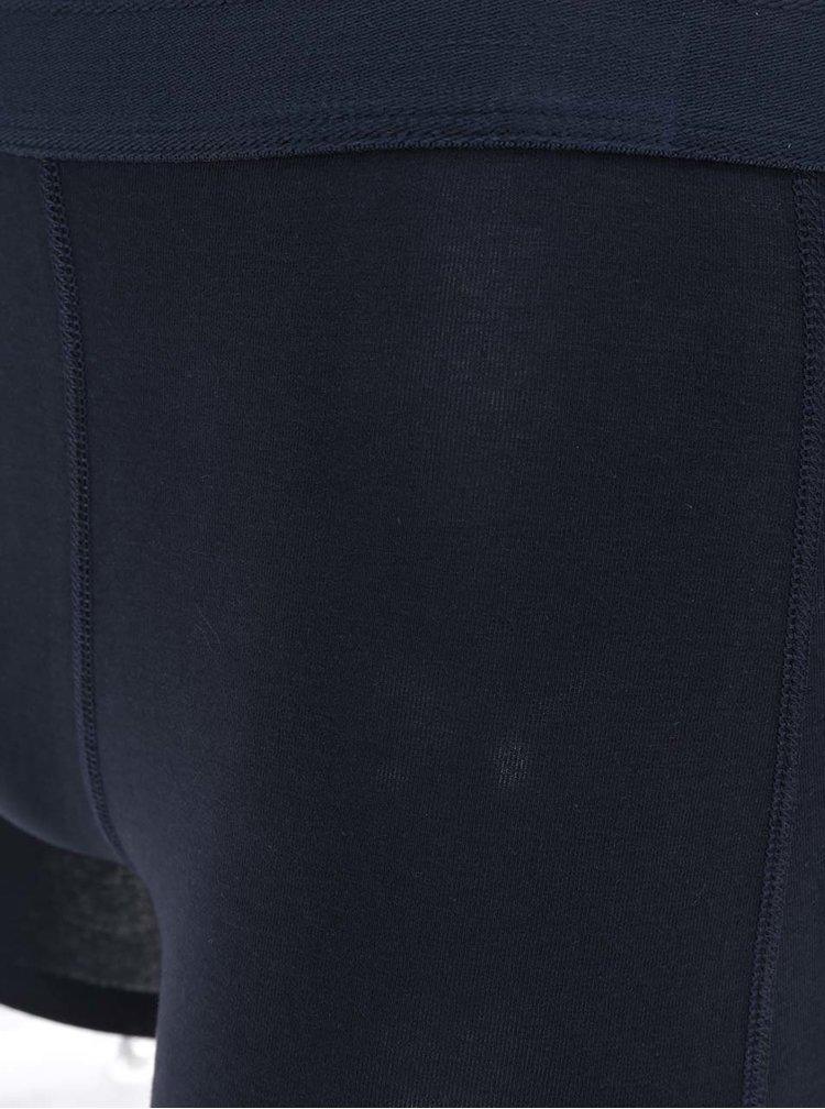 Boxeri bleumarin din bumbac Selected Homme Kris