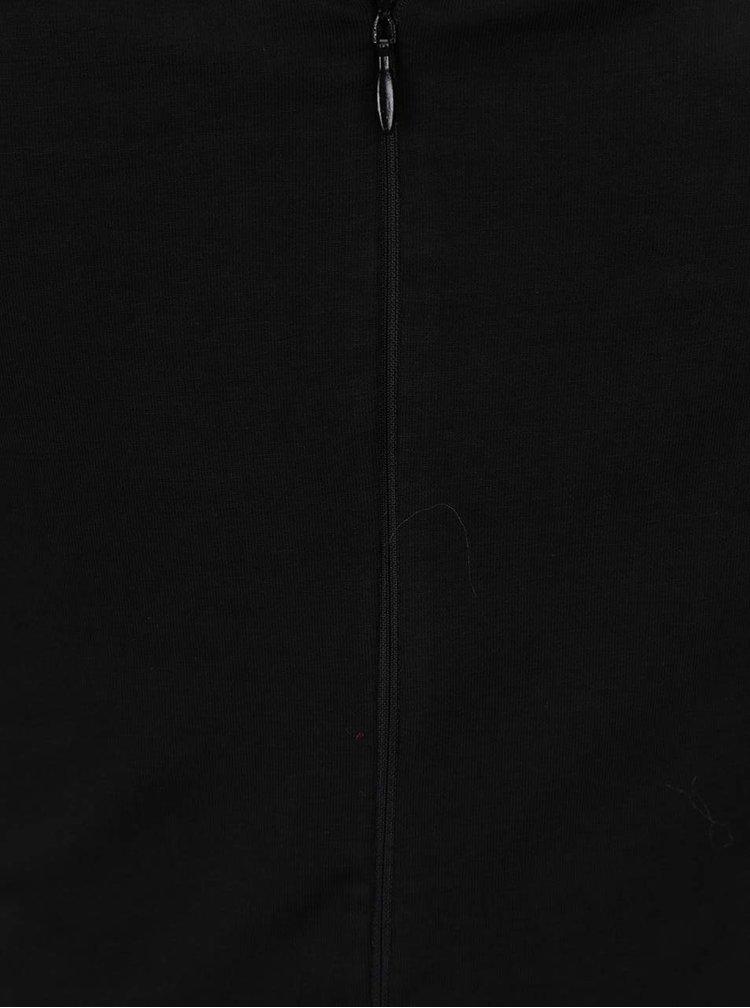 Rochie neagra AX Paris cu aplicatii florale