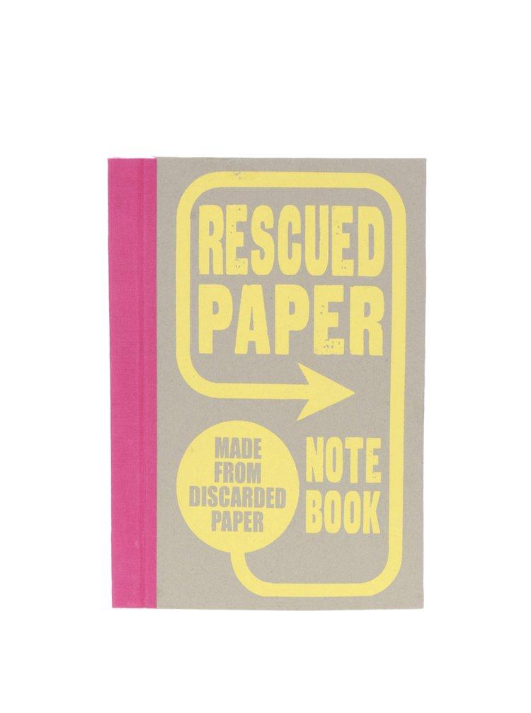 Carnet gri Chronicle din hârtie reciclată