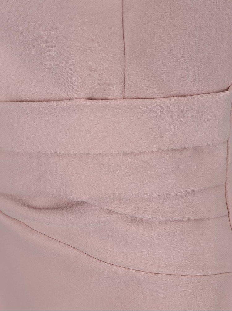 Starorůžové pouzdrové šaty bez rukávů Dorothy Perkins