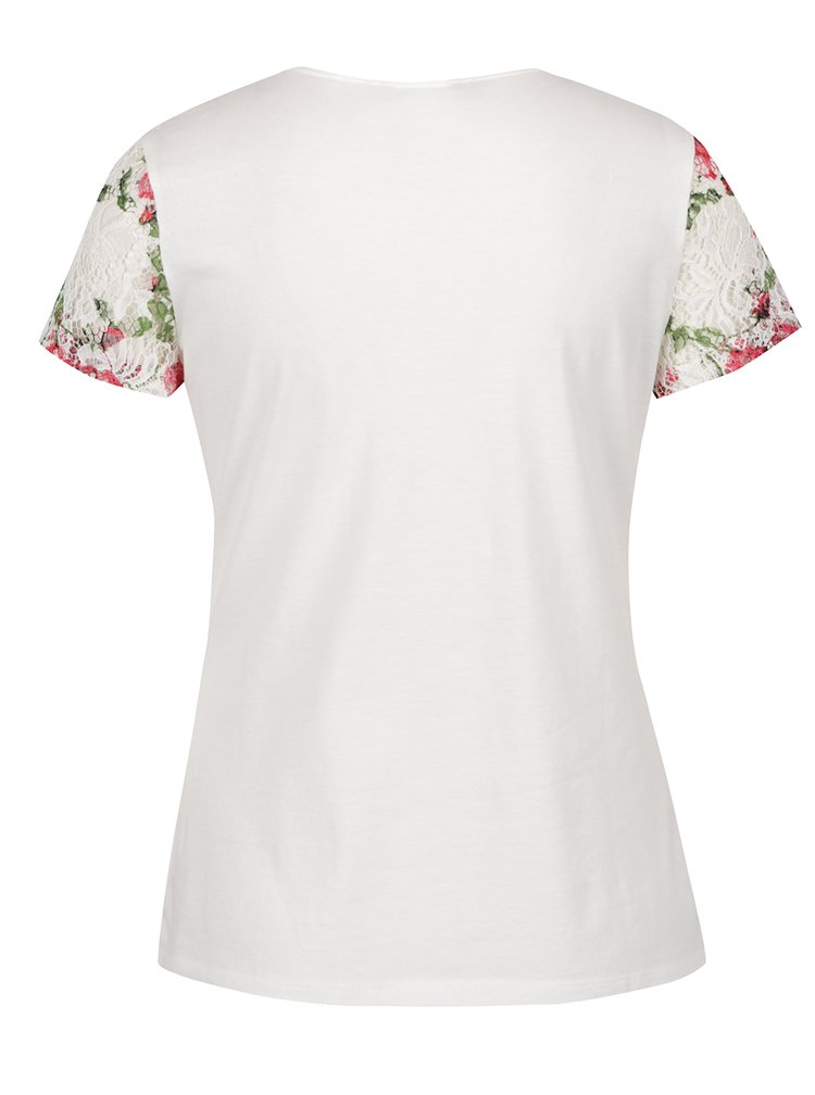 Tricou crem  Dorothy Perkins cu imprimeu floral