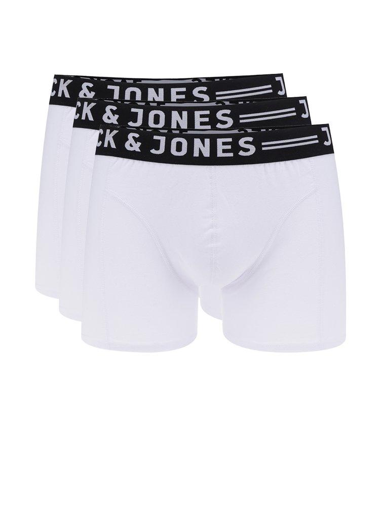 Set de 3 perechi boxeri albi Jack & Jones Sense