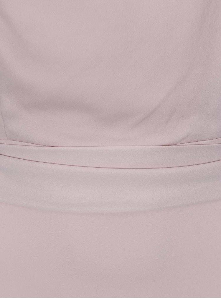 Rochie roz pudrat Dorothy Perkins cu panglici in talie