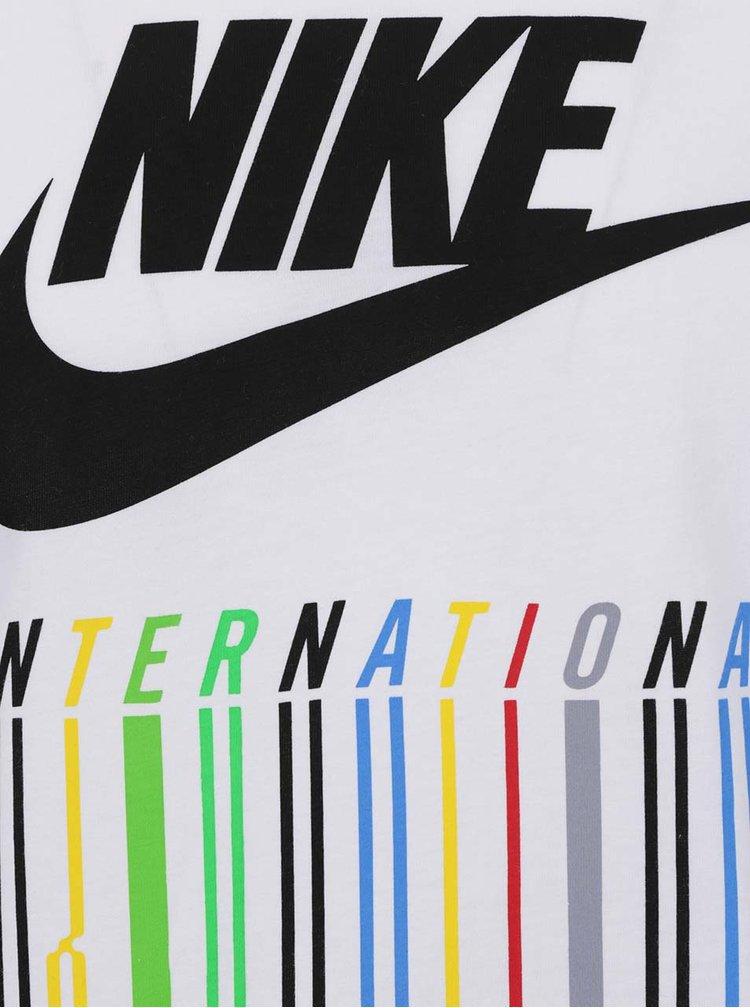 Bílé pánské triko s barevným potiskem Nike Intel