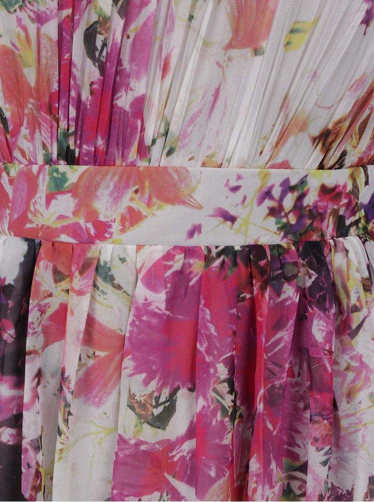 Světle šedé květované maxišaty Dorothy Perkins