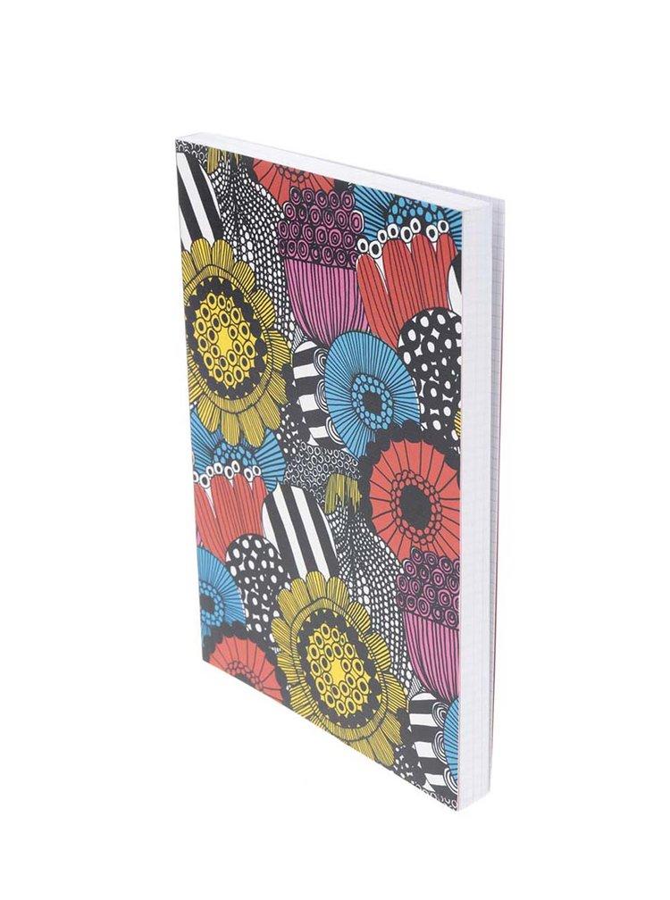 Červeno-modrý vzorovaný zápisník Chronicle Marimekko