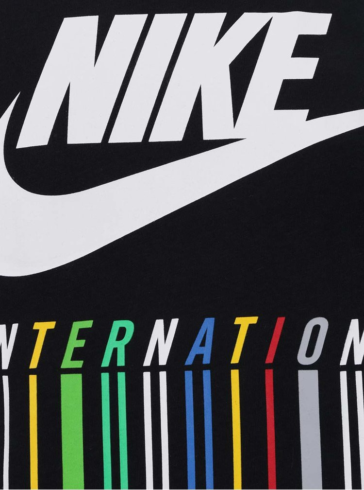 Černé pánské triko s barevným potiskem Nike Intel