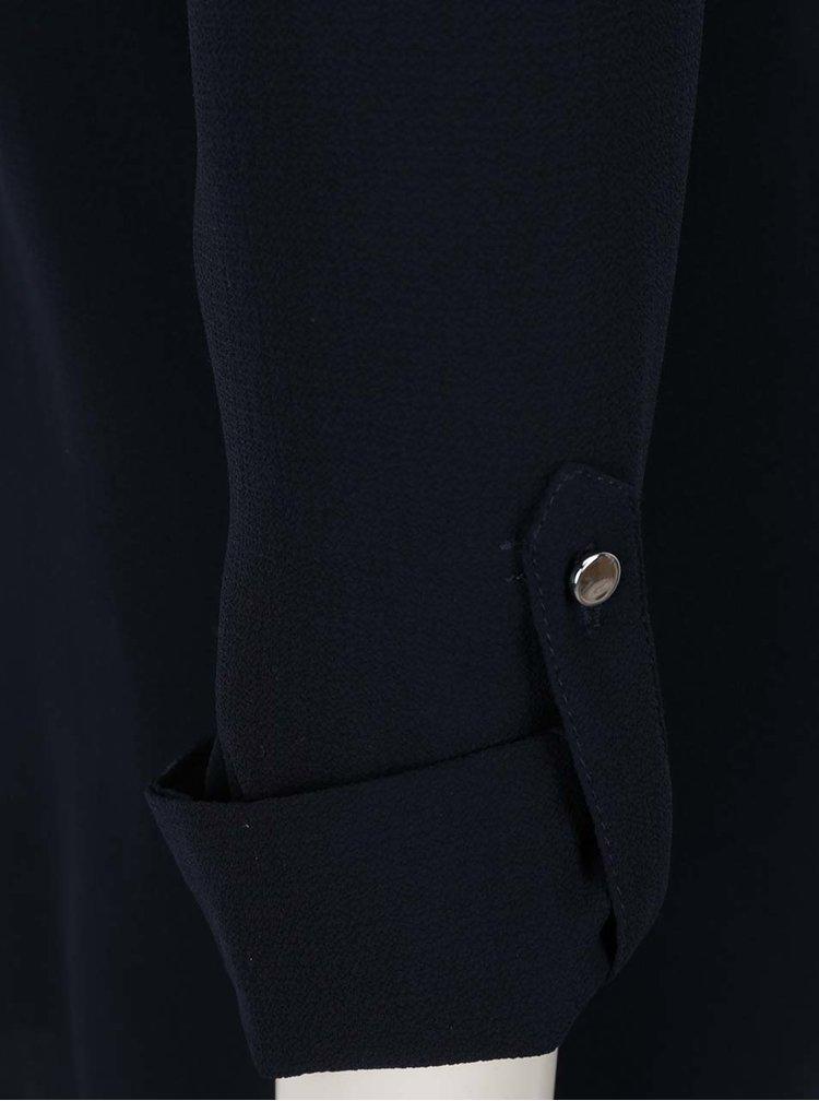 Tmavě modrá volná halenka s průstřihy na ramenou Dorothy Perkins
