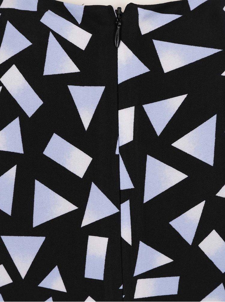Černé vzorované šaty se zřasením na bocích Dorothy Perkins