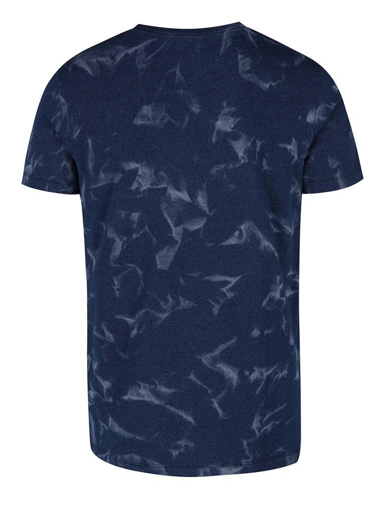 Modré pánské triko s potiskem Calvin Klein Jeans Tanos