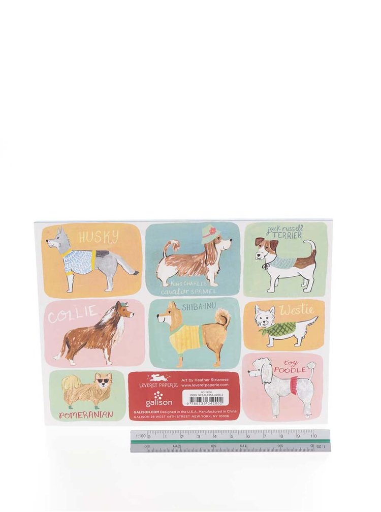 Set post-it-uri colorate cu rase de caini Galison