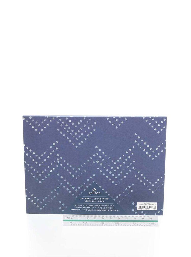 Modré lepící štítky Galison