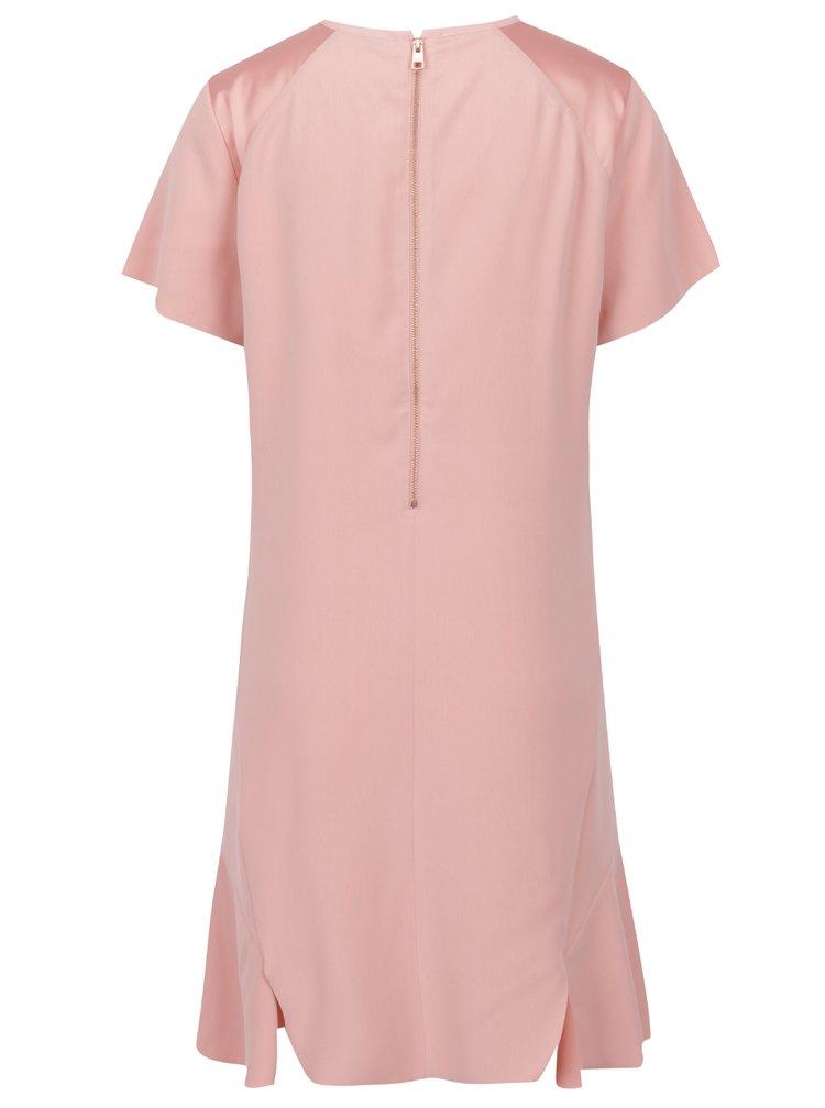 Růžové šaty s rozparky Calvin Klein Jeans Dacia