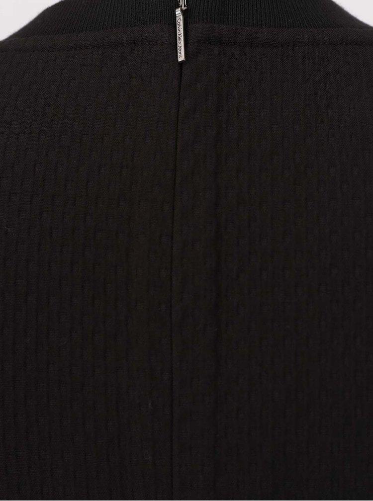 Černé pouzdrové šaty bez rukávů Calvin Klein Jeans Delphine