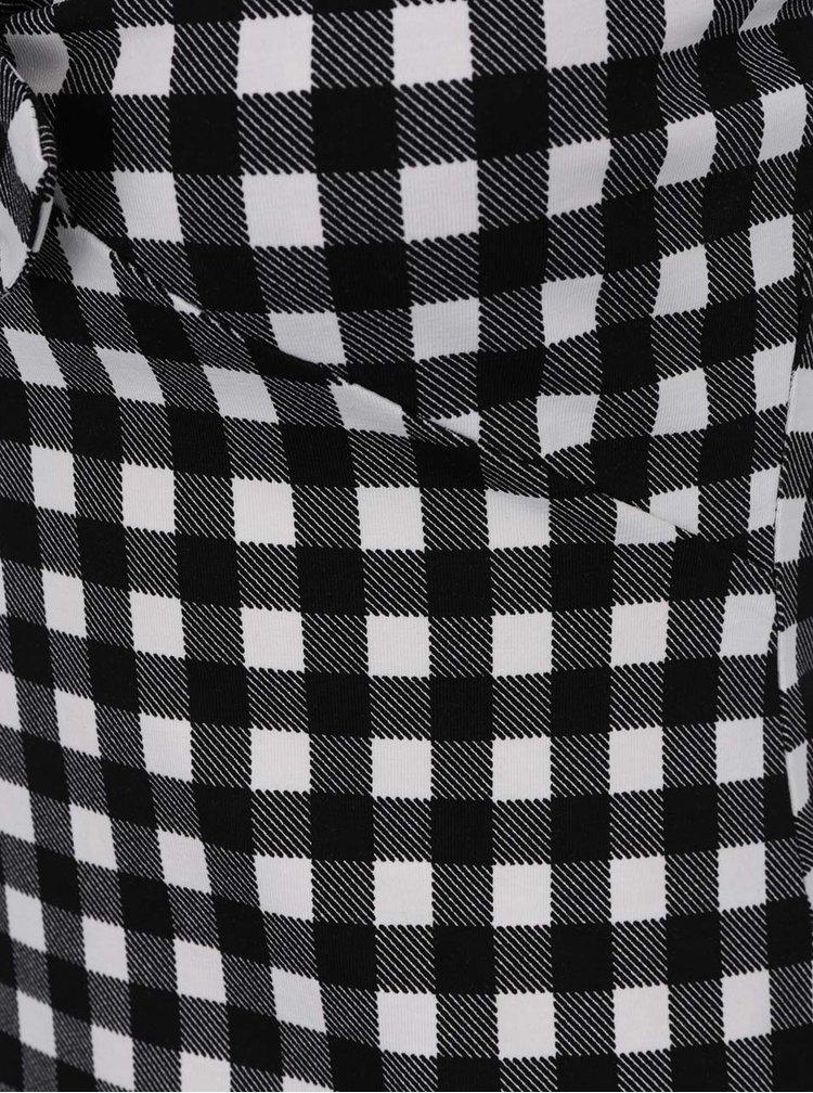 Bílo-černé kostkované tílko s mašlí Dorothy Perkins