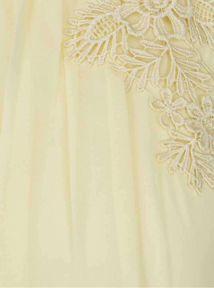 Žluté šaty s krajkovým zdobením Dorothy Perkins
