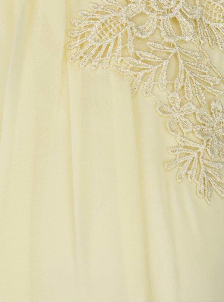 Rochie galben pal Dorothy Perkins cu detalii din macrame