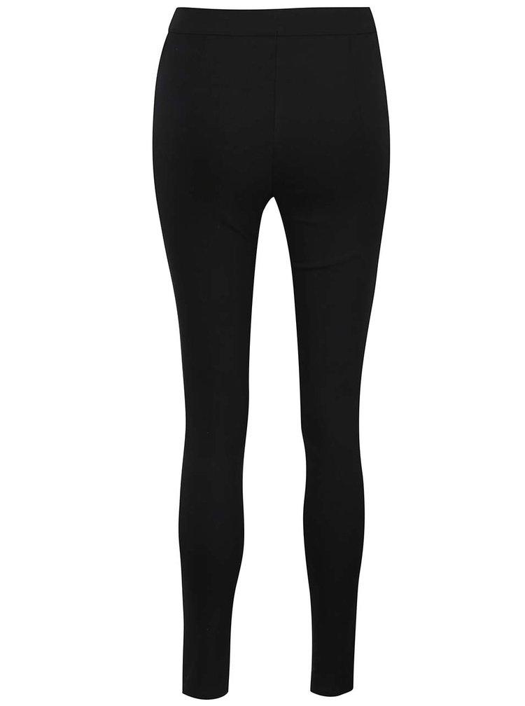 Čierne elastické skinny nohavice s pružným pásom Dorothy Perkins