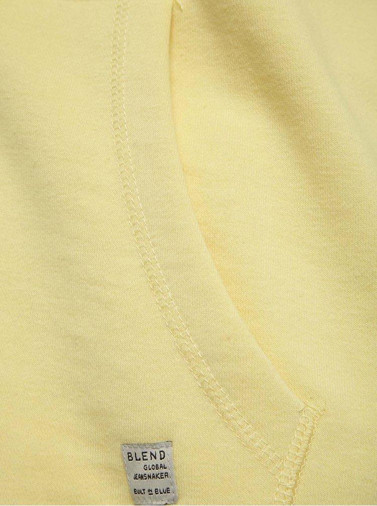 Žlutá mikina s potiskem Blend