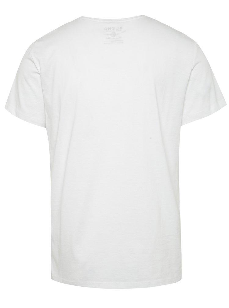 Tricou alb Blend cu imprimeu