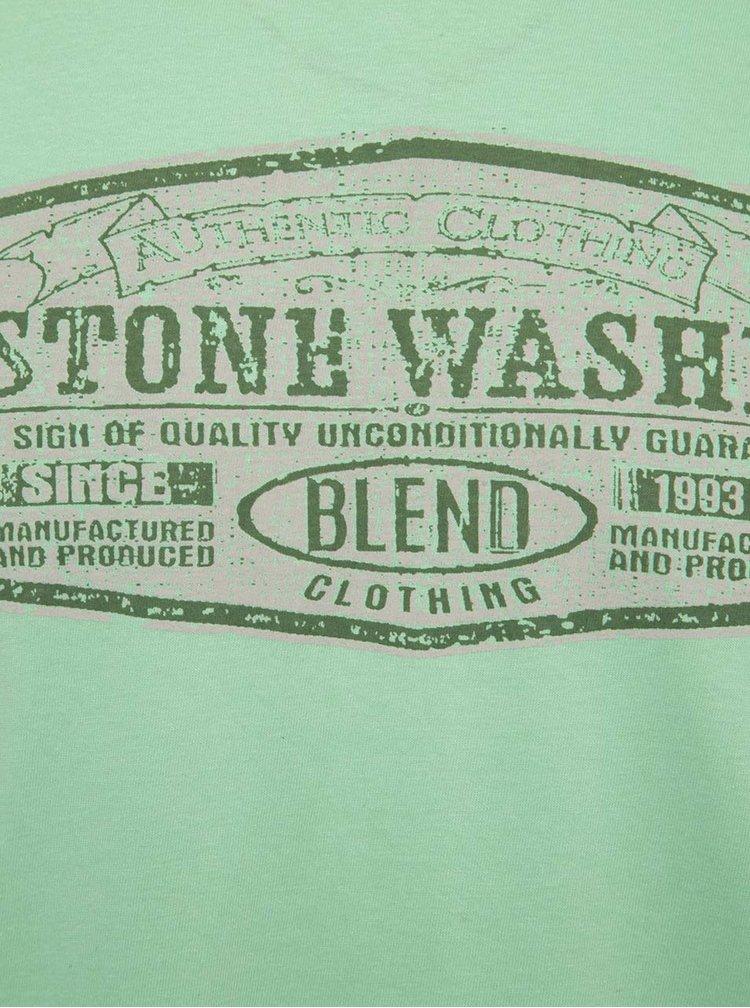 Zelené triko s potiskem Blend